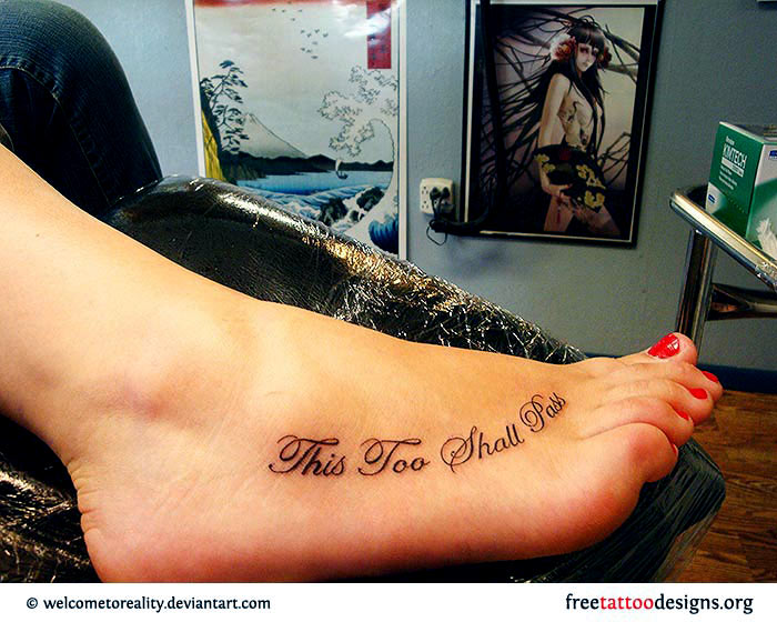 quote tattoos on foot - photo #43