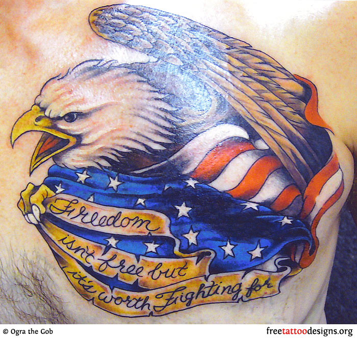 military eagle tattoo pictures to pin on pinterest tattooskid. Black Bedroom Furniture Sets. Home Design Ideas