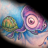 Funny turtle tattoo