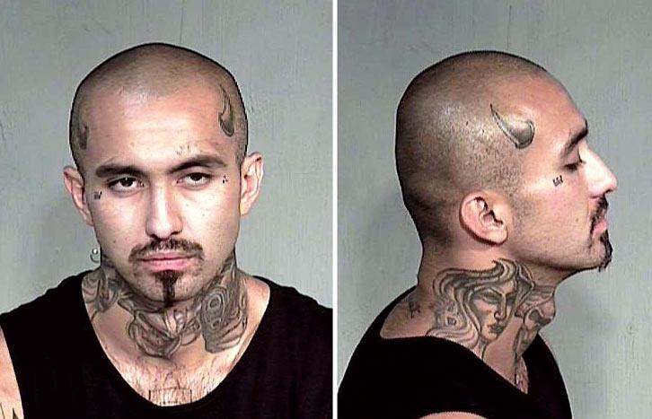 Facial neck tattoo