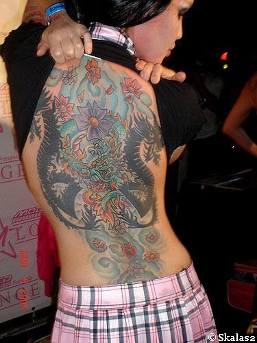 full back tattoos. Full Back Dragon Tattoo is