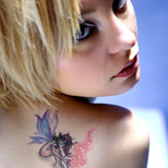 Girl with a fairy tattoo