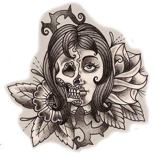 Skull Tattoos | Grim Reaper Tattoos | Deer, Sugar, Bull Skull Tattoo ...