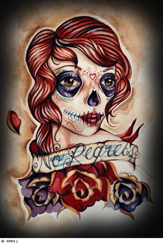girl skull tattoos. Girly Skull Tattoos