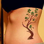 Girl with a tree tattoo