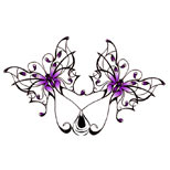 Gothic butterfly tattoo design