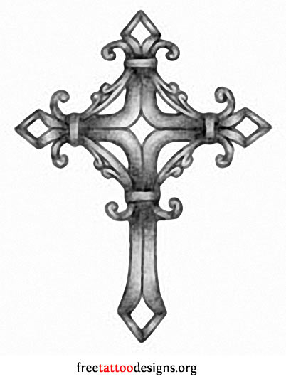 Crosses Skulls Drawings Gothic Cross