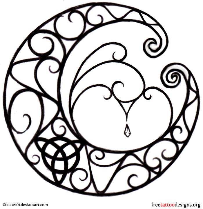 Gothic moon design ...