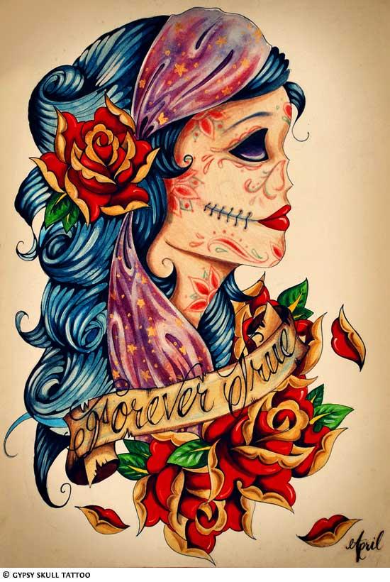 Skull Tattoos Grim Reaper Tattoos Deer Sugar Bull Skull Tattoo Art