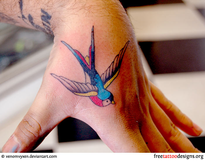 Swallow Tattoo Hand 84