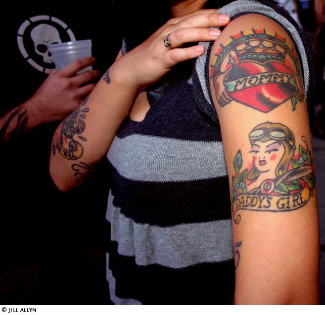 Tribal Heart With Banner Heart Tattoo Ga...