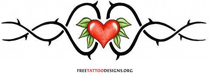 vines heart tattoos. Black Bedroom Furniture Sets. Home Design Ideas