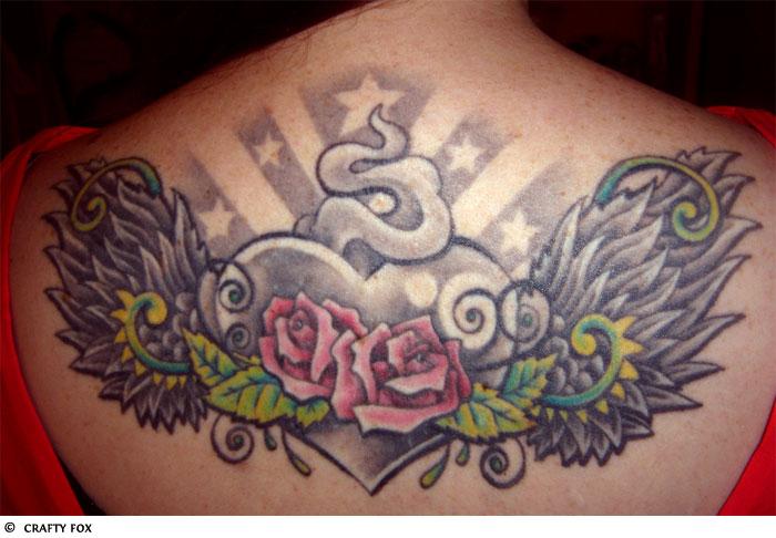 Real Heart Tattoo With Wingsdenenasvalencia