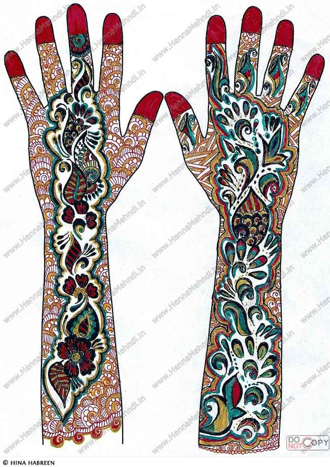 Colorful Henna Designs: Mehndi Designs