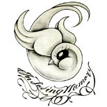 In loving memory swallow tattoo design