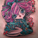 Tattoo of a Japanese girl