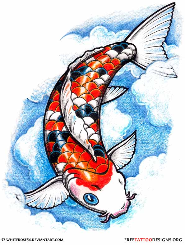 40 koi fish tattoos japanese and chinese designs for Pictures of coy fish