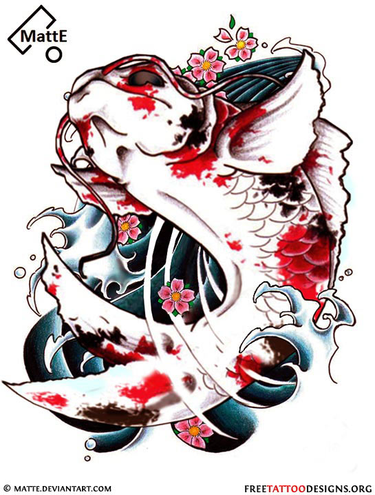 Image gallery japanese koi fish tattoos for Japanese koi design