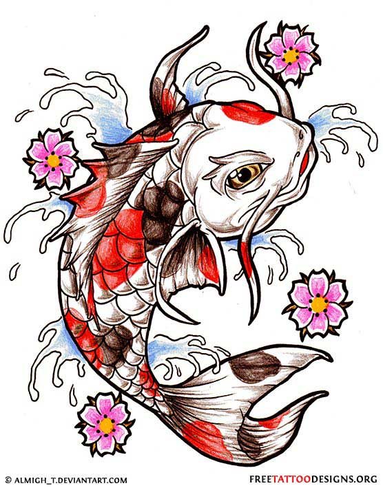 40 koi fish tattoos japanese and chinese designs for Free tattoo design