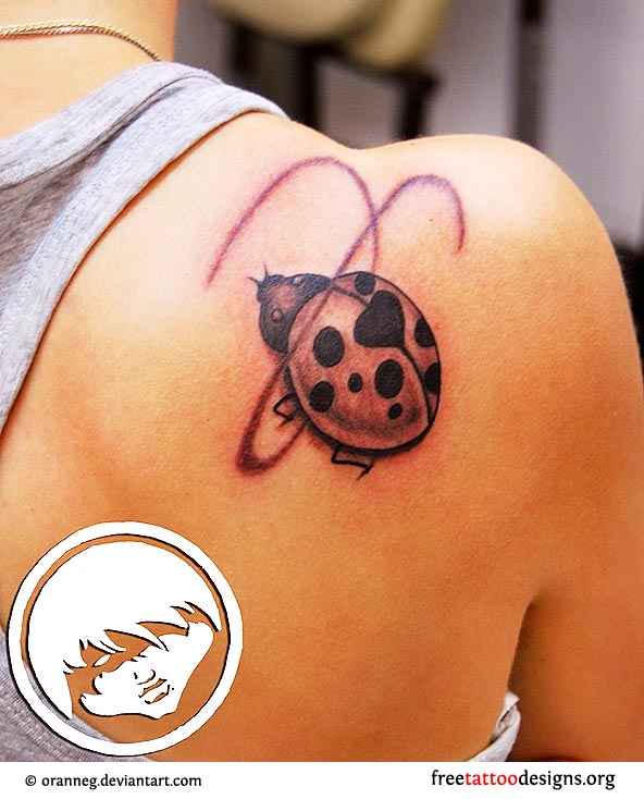 Ladybug Tattoos Designs Ideas And Meaning: Cute Tattoos And Ideas