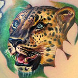 Leopard tattoo