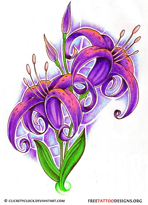 Flower tattoo gallery 70 flower designs for Dragon lily tattoo