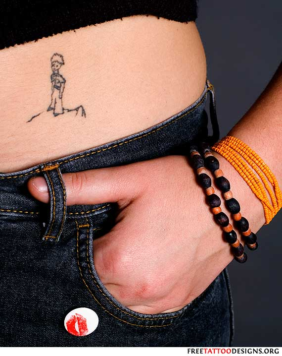 girl with a le petit prince tattoo. Black Bedroom Furniture Sets. Home Design Ideas