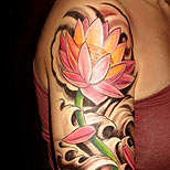 Lotus tattoo on a woman's arm