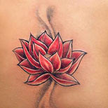 Lotus tattoo on a girl's back
