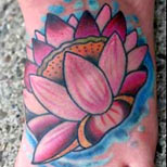 Lotus foot tattoo