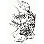 Koi and lotus tattoo design