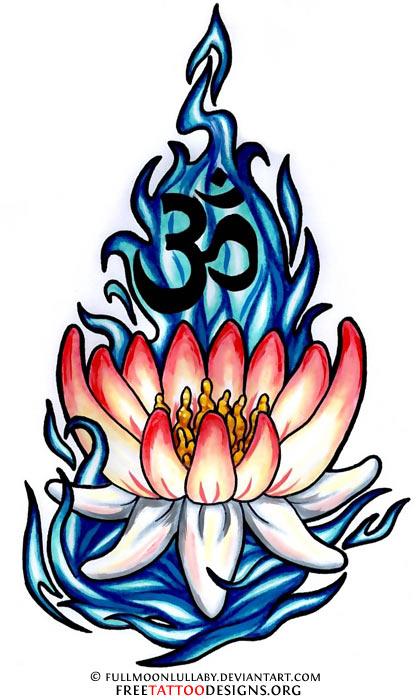 90 lotus flower tattoos. Black Bedroom Furniture Sets. Home Design Ideas