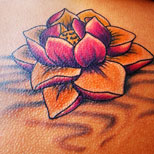 Pink lotus tattoo