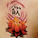 Japanese lotus tattoo