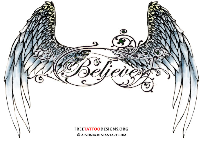 Lower back angel wings design