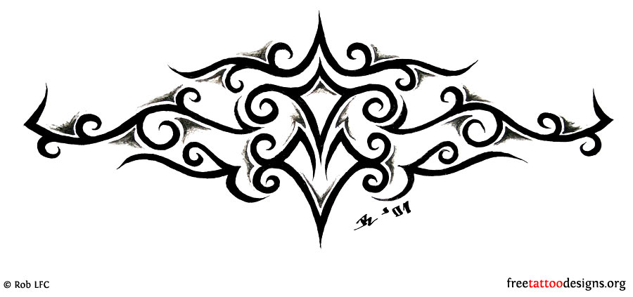 8da8de1622415 95 Lower Back Tattoos | Tramp Stamp Tribal Tattoo Designs