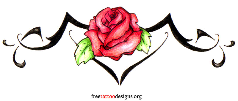 roses designs with tattoo tribal Tattoo Designs Back Tramp Tribal Stamp 95 Lower  Tattoos