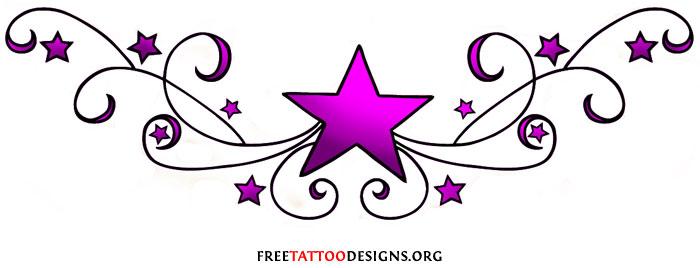 Lower back star tattoo