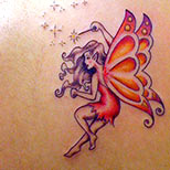 Magic fairy tattoo