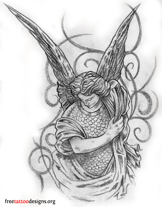 earth angel tattoo designs tattoo lawas. Black Bedroom Furniture Sets. Home Design Ideas