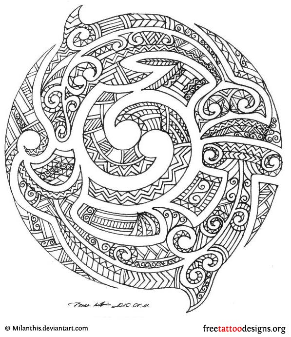 Maori Tattoo Drawing Designs and Meanings