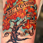 Memorial tree tattoo