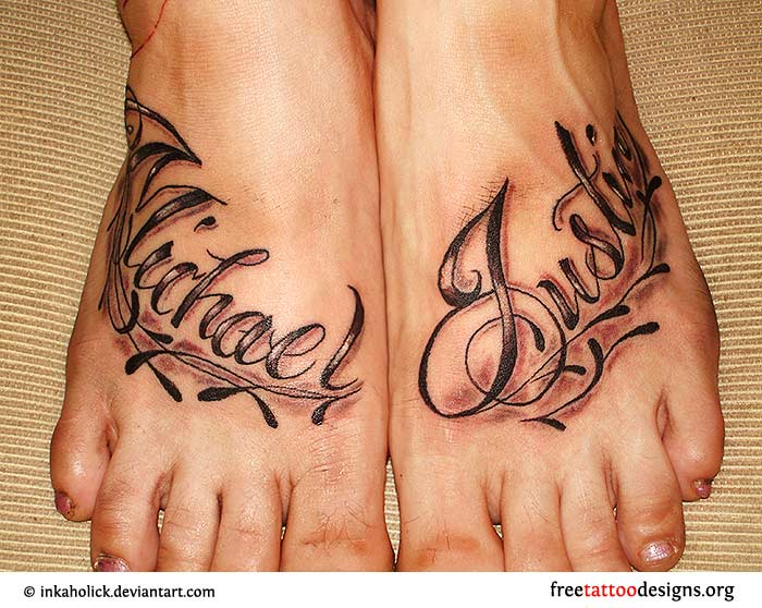 foot tattoos. Black Bedroom Furniture Sets. Home Design Ideas