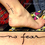 No fear tattoo besides ankle