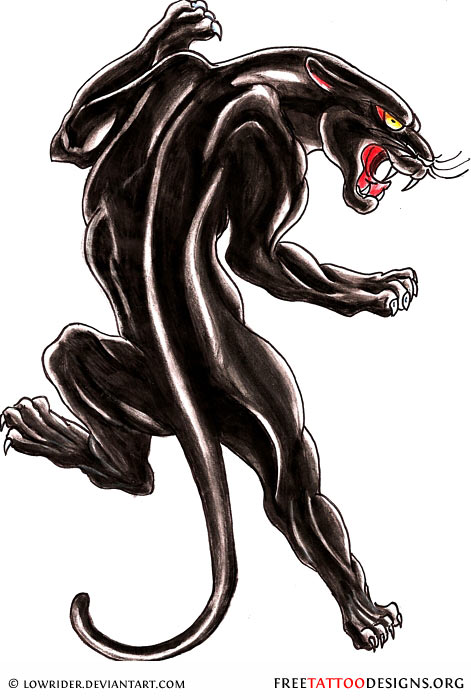 Black Panther Tattoo Tattoo Design · Black