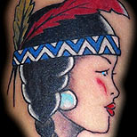 Old school Native Indian tattoo