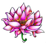 Oriental lotus tattoo design