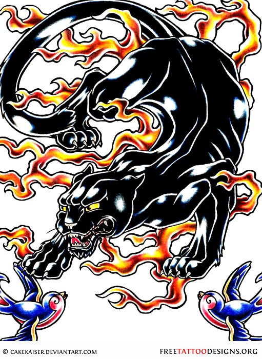 Black Panther Tattoo Designs