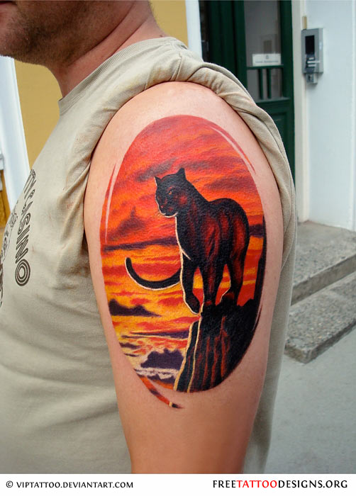 panther tattoos black panther tattoo designs. Black Bedroom Furniture Sets. Home Design Ideas