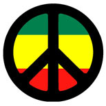 Peace sign tattoo design
